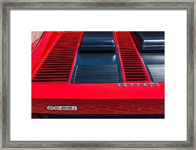 1984 Ferrari 512 Bbi By Pininfarina Rear Emblems -0811c Framed Print by Jill Reger