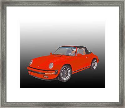 1984 Porsche 911 Cabriolet  Framed Print by Jack Pumphrey