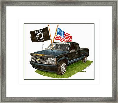 1988 Chevrolet M I A Tribute Framed Print by Jack Pumphrey