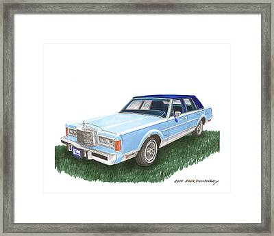Classy 1989 Lincoln Towncar Framed Print by Jack Pumphrey