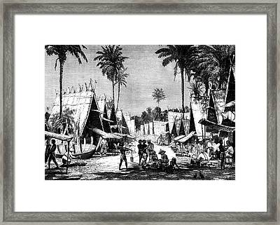 19th C Molucca Islands Market Framed Print by Collection Abecasis