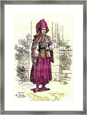 19th Century Bolivian Bride Framed Print by Collection Abecasis