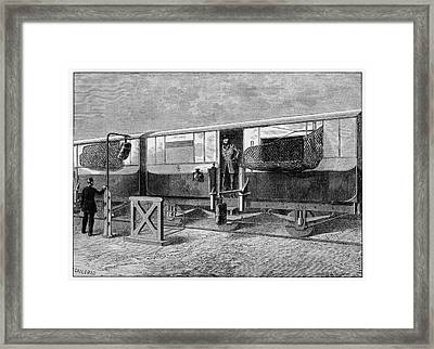 19th Century British Mail Train Framed Print by Cci Archives