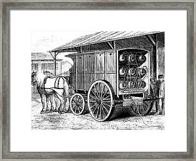 19th Century Compressed Gas Tanks Framed Print by Collection Abecasis
