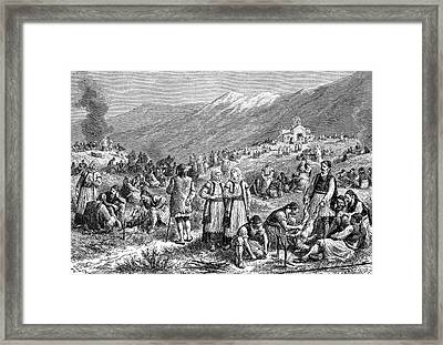 19th Century Fasting Festival Framed Print by Bildagentur-online/tschanz