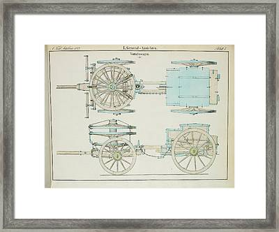 19th Century German Artillery Repair Cart Framed Print by British Library