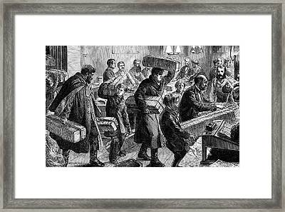 19th Century German Post Office Framed Print by Collection Abecasis
