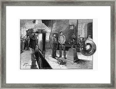 19th Century Glassblower's Workshop Framed Print by Cci Archives