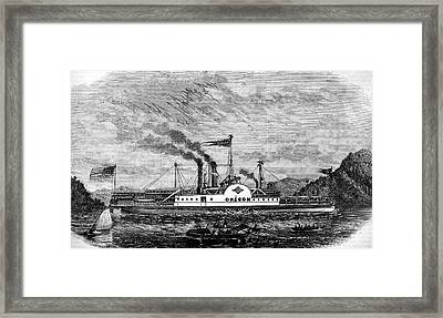 19th Century Paddle Steamer Framed Print by Collection Abecasis