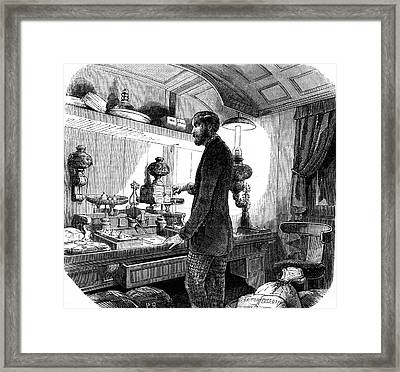 19th Century Post Office Framed Print by Collection Abecasis