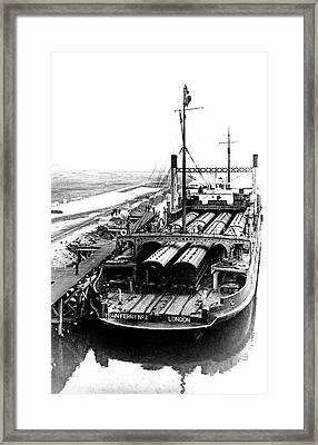 19th Century Train Ferry Framed Print by Collection Abecasis
