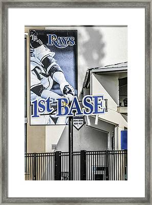 1st Base Framed Print by Chris Smith