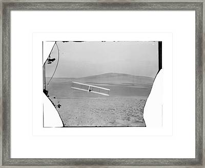 1902 Wilbur Wright Piloting Glider Framed Print by MMG Archives