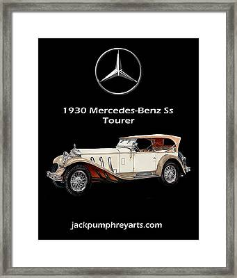1930 Mercedes Benz Ss Tourer Framed Print by Jack Pumphrey