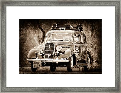 1935 Plymouth Taxi Cab Framed Print by Jill Reger