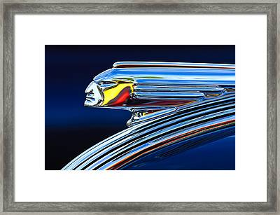 1939 Pontiac Silver Streak Chief Hood Ornament Framed Print by Jill Reger