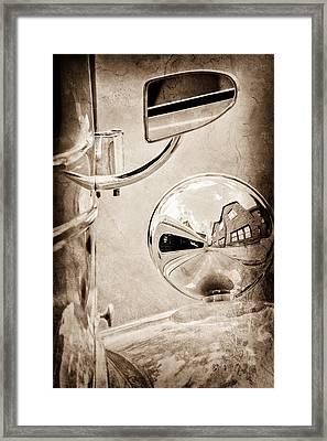 1948 Anglia Rear View Mirror Framed Print by Jill Reger