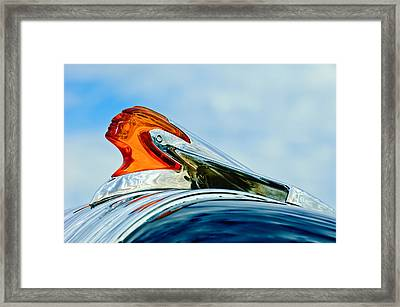 1950 Pontiac Hood Ornament Framed Print by Jill Reger