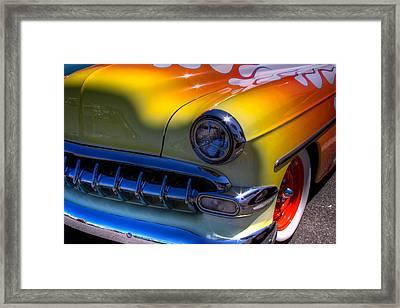 1954 Chevy Bel Air Custom Hot Rod Framed Print by David Patterson