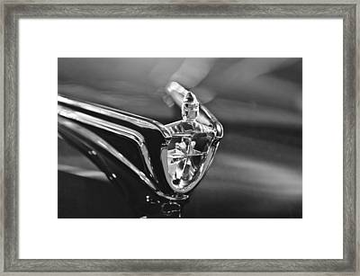1956 Lincoln Premiere Convertible Hood Ornament Framed Print by Jill Reger