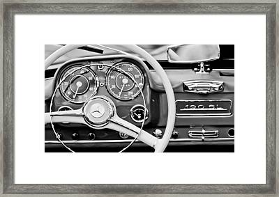 1959 Mercedes-benz 190 Sl Steering Wheel Framed Print by Jill Reger