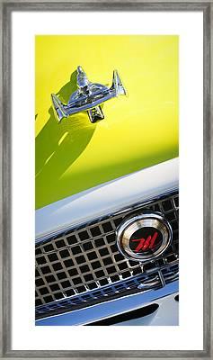 1959 Nash Metropolitan 1500 Convertible Hood Ornament - Grille Emblem Framed Print by Jill Reger