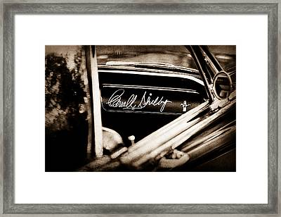 1965 Shelby Prototype Ford Mustang Carroll Shelby Signature Framed Print by Jill Reger