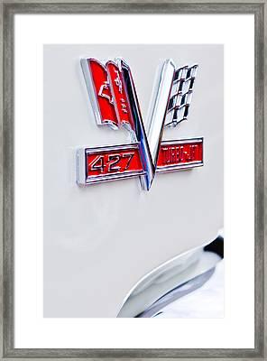 1966 Chevrolet Biscayne Emblem Framed Print by Jill Reger
