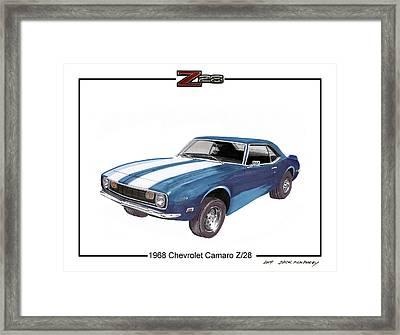 1968 Chevrolet Camaro Z 28 Framed Print by Jack Pumphrey