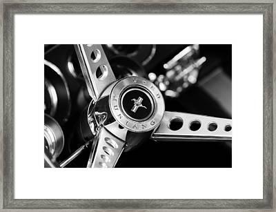 1969 Ford Mustang Mach 1 Steering Wheel Framed Print by Jill Reger