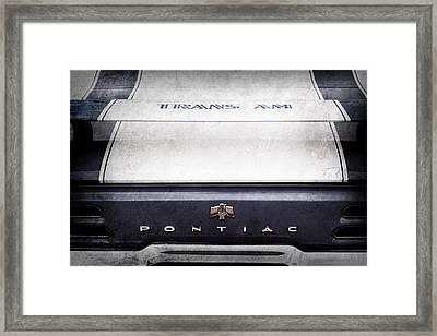 1969 Pontiac Trans Am Tail Fin Emblem Framed Print by Jill Reger