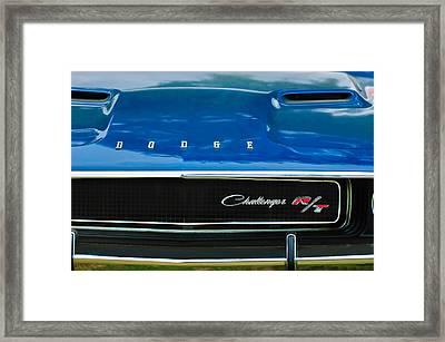 1970 Dodge Challenger Rt Convertible Grille Emblem Framed Print by Jill Reger