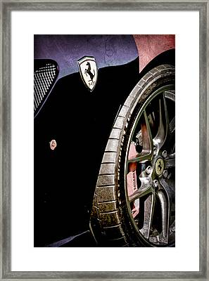 2011 Ferrari 599 Gto Emblem - Wheel Framed Print by Jill Reger