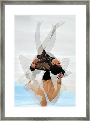 2012 European Figure Skating Framed Print by Science Photo Library
