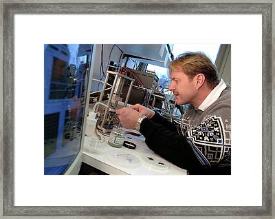 3d Chip Stack Framed Print by Ibm Research
