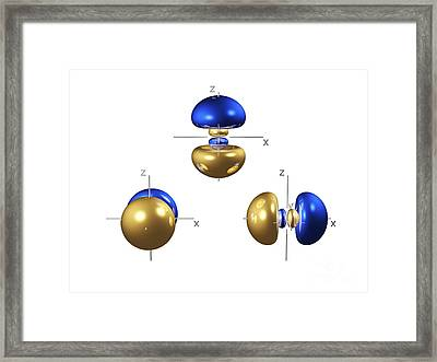 3p Electron Orbitals Framed Print by Dr. Mark J. Winter