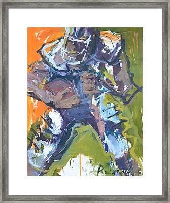 4th And 1 Framed Print by Robert Joyner