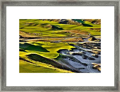 #9 At Chambers Bay Golf Course Framed Print by David Patterson