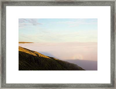 A Broken Spectre On Red Screes Framed Print by Ashley Cooper