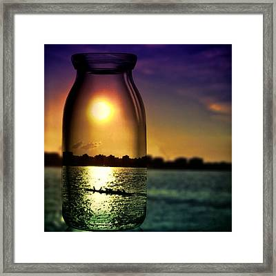 A View Upon The Hudson Framed Print by Natasha Marco