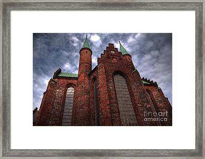 Aarhus Church Hdr Framed Print by Antony McAulay