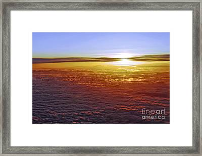 Above The Clouds Framed Print by Elena Elisseeva