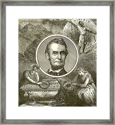 Abraham Lincoln Framed Print by English School