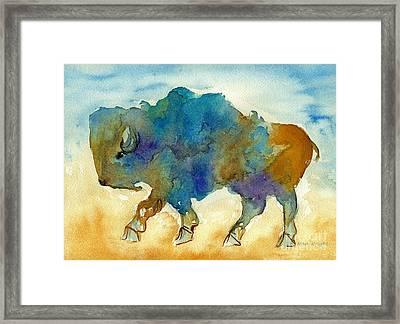 Abstract Buffalo Framed Print by Nan Wright