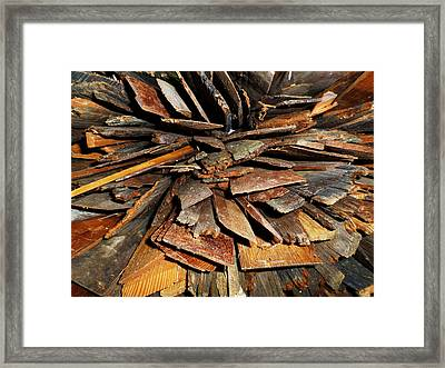 Abstract Wood Collection Part One Framed Print by Sir Josef Social Critic - ART