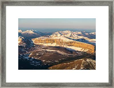 Aerial Of The Rocky Mountains Framed Print by Chuck Haney