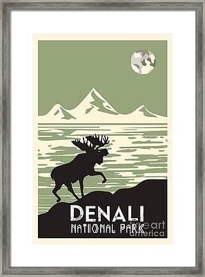 Alaska Denali National Park Poster Framed Print by Celestial Images