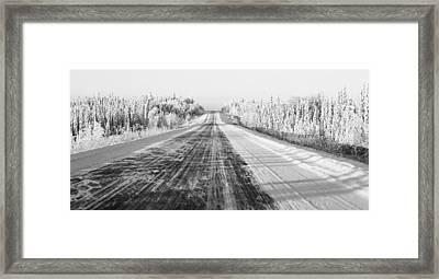 Alaska Highway 1 Framed Print by Juergen Weiss