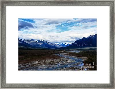 Alaska Mountain Range Framed Print by Thomas R Fletcher
