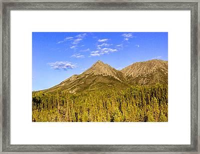 Alaska Mountains Framed Print by Chad Dutson
